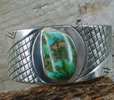 Native American Turquoise Bracelet Fox Mine-sz 8