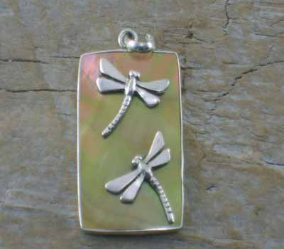 Pendant Tan Shell Dragonfly