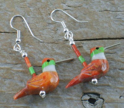 Earrings Southwest Hummingbirds