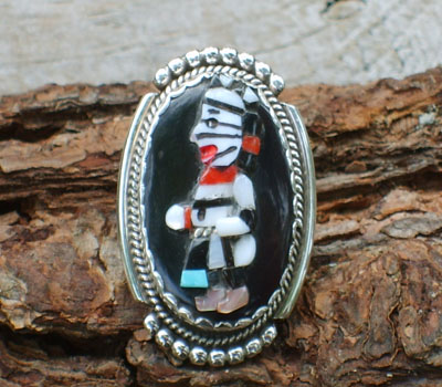 Zuni Indian Figure Ring
