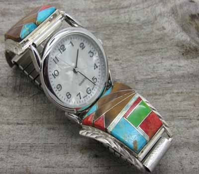 Native American Inlay Watch - A3