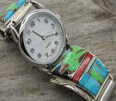 Native American Inlay Watch - A4