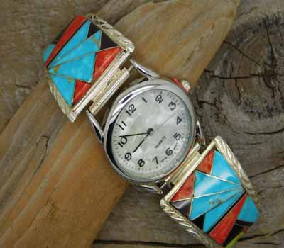 Watch-Native American Inlay - A1