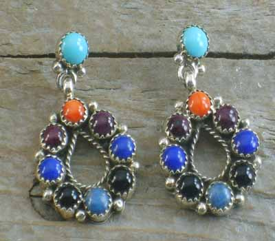 Native American Earrings Cluster- Flower B