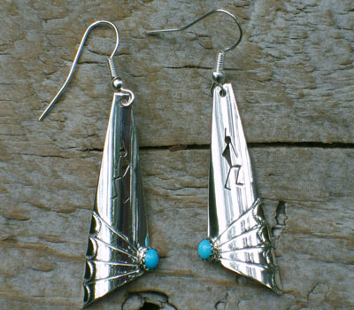Native American Sterling Silver w/ Turquoise Earrings
