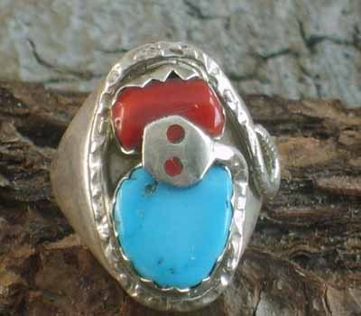 Native American Ring Effie C- sz 8.75