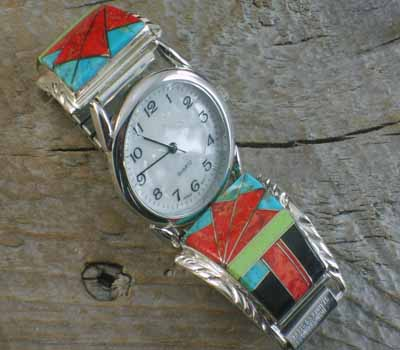 Native American Inlay Watch - A