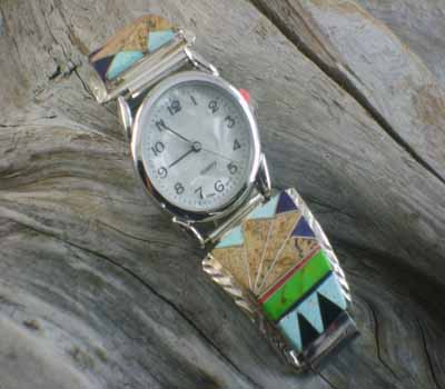 Native American Inlay WatchBand - C