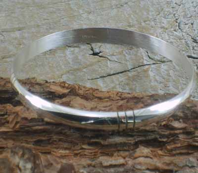 Native American Silver Bangle Bracelet 12