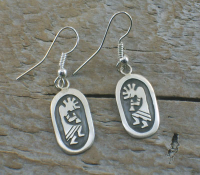 Native American Earrings - Kokopelli Dangle