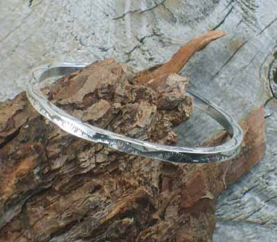 Native American Silver Bangle Bracelet 11