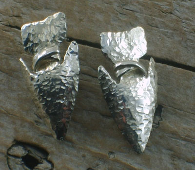 Native American Silver Jewelry-  Arrowhead