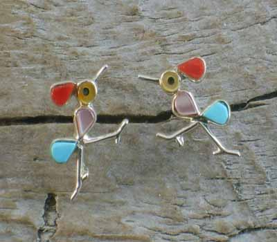 Roadrunner Inlay Earrings