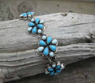 Turquoise Jewelry Turquoise Cluster Bracelet G Apacheto