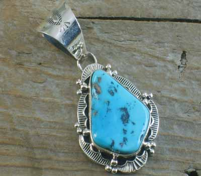 Native American Turquoise Pendant