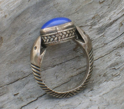 Ring Lapis & Sterling Silver Asp - sz 8