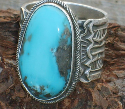 Native American Ring - sz 14