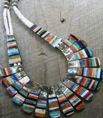 Native American Inlay Necklace - Stunning