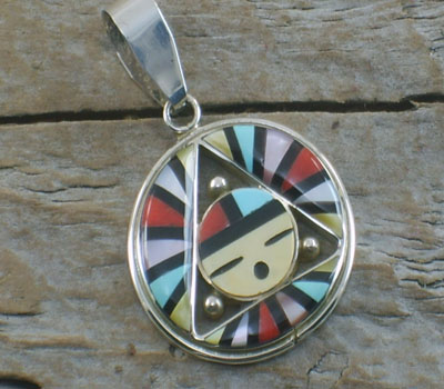 Native American Jewelry -Sunface Pendant Inlay