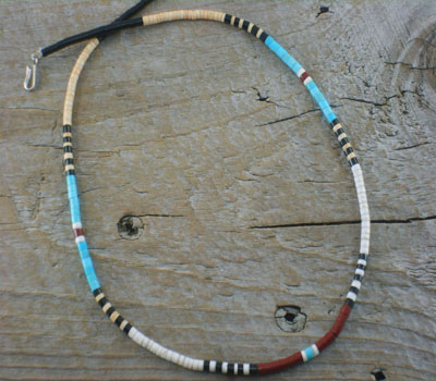 Native American Jewelry- Santo Domingo Necklace Sleek