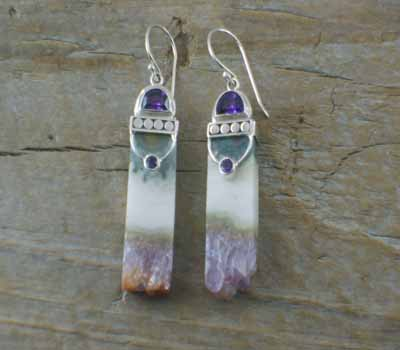 Uruguay Crystal Earrings Sterling Silver B