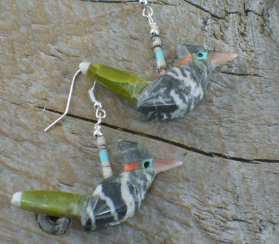 Southwest Jewelry Roadrunner Earrings