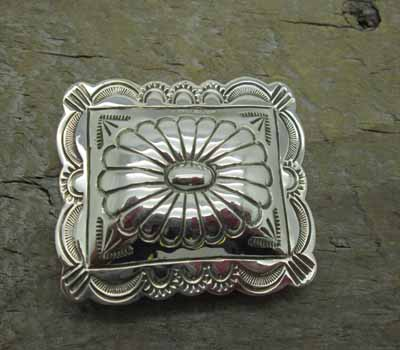 Native American  - Silver Stamped Money Clip A