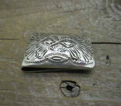 Native American  - Silver Stamped Money Clip