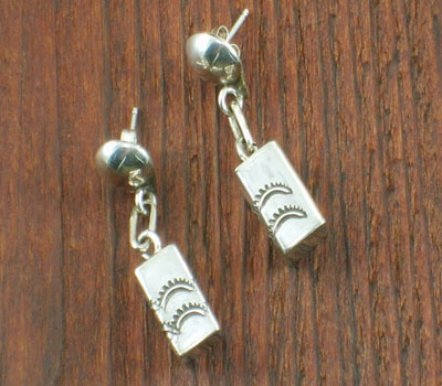 Native American Sterling Silver Drop Earrings square