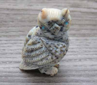Zuni Stone Carved Fetish/ Wise Owl