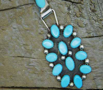 American Indian Pendant Turquoise Cluster