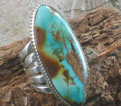 Turquoise Jewelry Pilot Mountain Turquoise Ring - sz 11 3/4