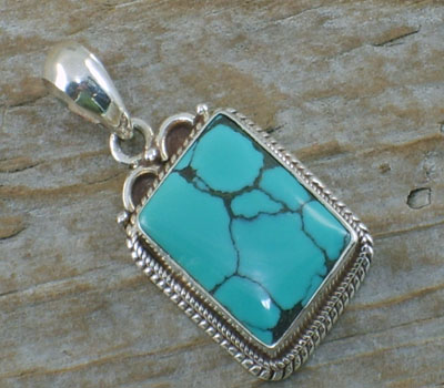 Turquoise Pendant - Small