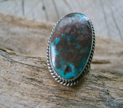 Turquoise Ring sz 7 - Stormy