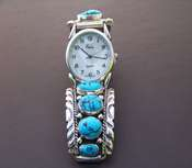 Native American WatchTurquoise Nugget & Sterling Silver
