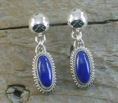 Artie Yellowhorse Native American Lapis Earrings
