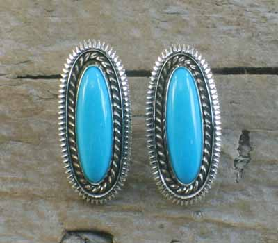 Artie Yellowhorse Sleeping Beauty Turquoise Earrings